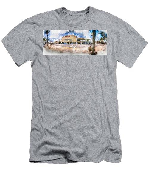 The Myrtle Beach Pavilion - Watercolor Men's T-Shirt (Athletic Fit)