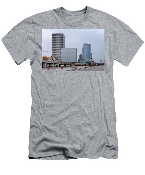 Men's T-Shirt (Slim Fit) featuring the photograph The New Milwaukee Skyline by Randy Scherkenbach