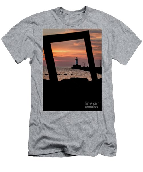 The North Pier Lighthouse Men's T-Shirt (Athletic Fit)