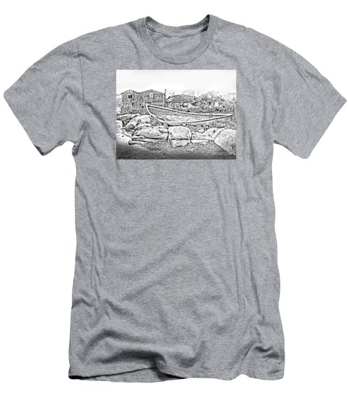 The Old Boat At Peggy's Cove Men's T-Shirt (Slim Fit) by Patricia L Davidson