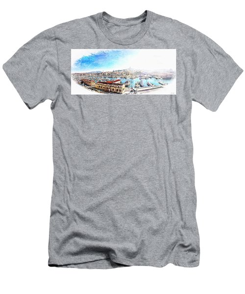 The Old Port Of Marseille  2 Men's T-Shirt (Athletic Fit)