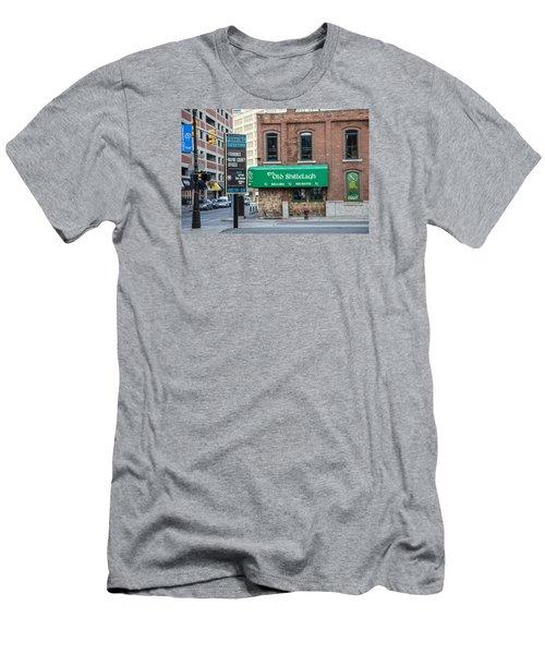 The Old Shillelagh Detroit  Men's T-Shirt (Slim Fit) by John McGraw