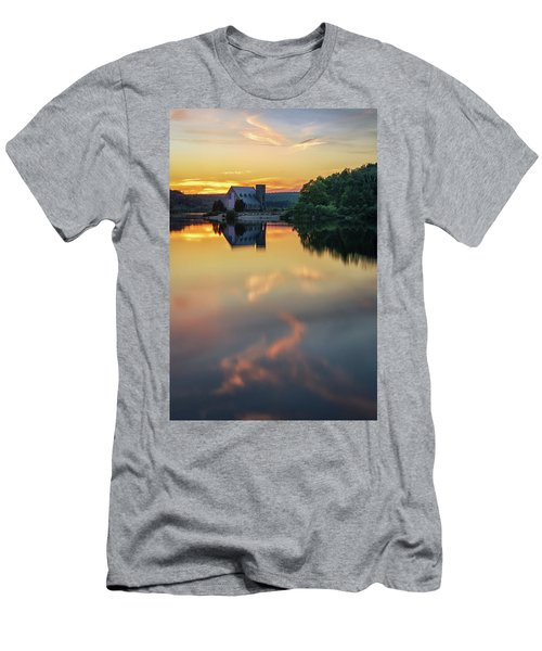 The Old Stone Church At Sunset Men's T-Shirt (Athletic Fit)