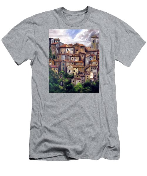 The Old Village Men's T-Shirt (Slim Fit) by Katia Aho