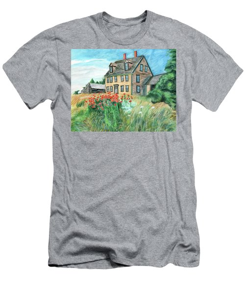 The Olson House With Poppies Men's T-Shirt (Athletic Fit)