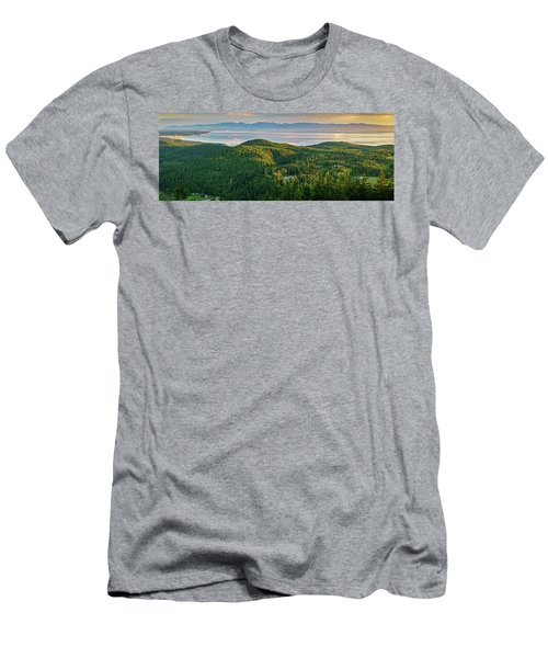 The Olympics From Mt Erie Men's T-Shirt (Slim Fit) by Ken Stanback