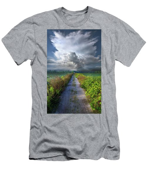 The Only Way In Men's T-Shirt (Slim Fit) by Phil Koch