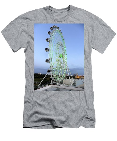 Men's T-Shirt (Slim Fit) featuring the photograph The Orlando Eye 000 by Chris Mercer