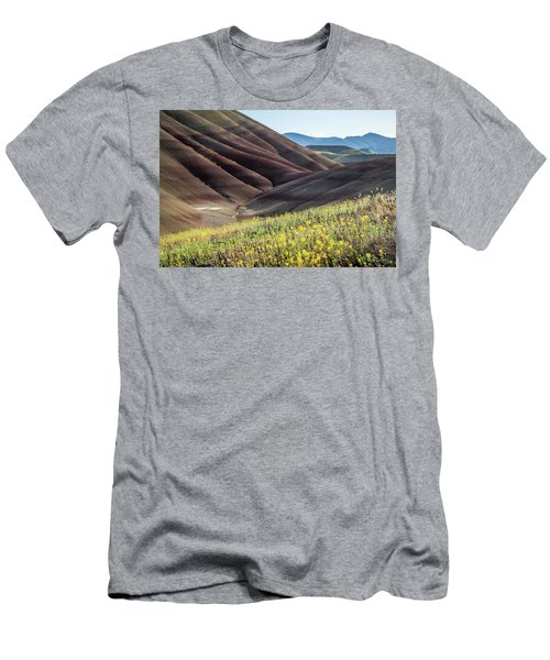 The Painted Hills In Bloom Men's T-Shirt (Athletic Fit)