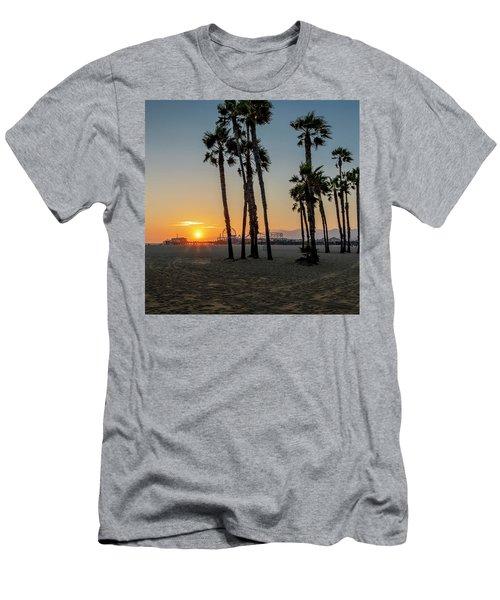 The Pier At Sunset - Square Men's T-Shirt (Athletic Fit)
