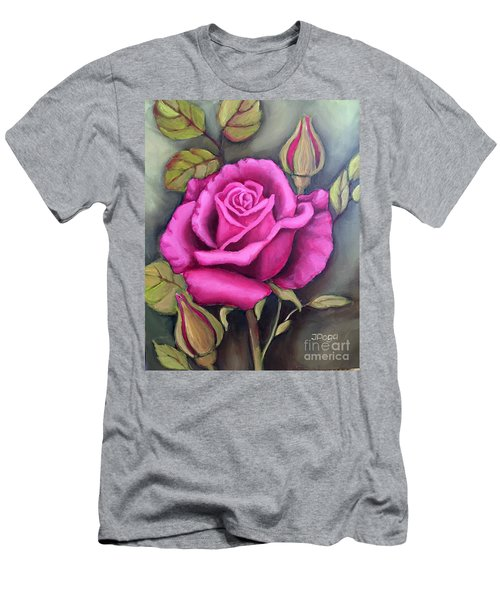 The Pink Rose Men's T-Shirt (Athletic Fit)