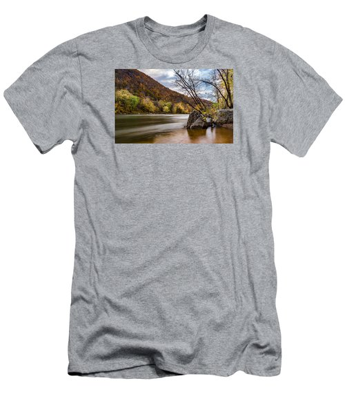 The Potomac In Autumn Men's T-Shirt (Slim Fit) by Ed Clark