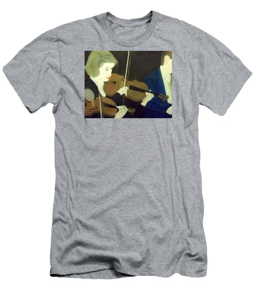 The Prettiest Violinist In The Orchestra Men's T-Shirt (Athletic Fit)