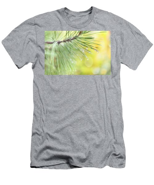 Men's T-Shirt (Athletic Fit) featuring the photograph The Rain The Park And Other Things by John Poon
