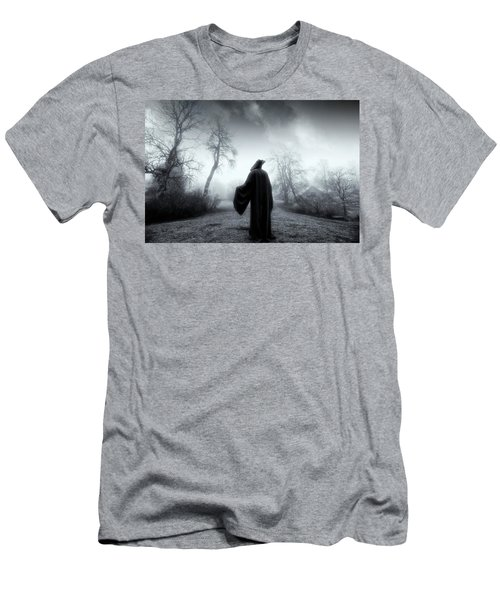 The Reaper Moving Through Mist And Fog Men's T-Shirt (Slim Fit) by Christian Lagereek