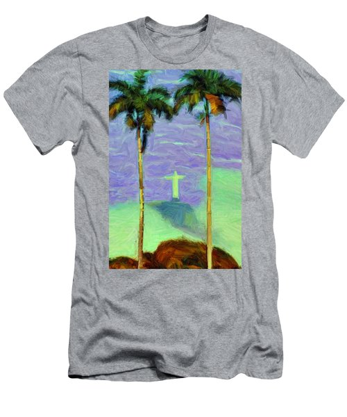 The Redeemer Men's T-Shirt (Slim Fit) by Caito Junqueira
