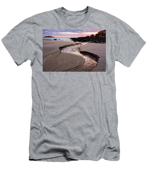 The River Good Harbor Beach Men's T-Shirt (Slim Fit) by Michael Hubley