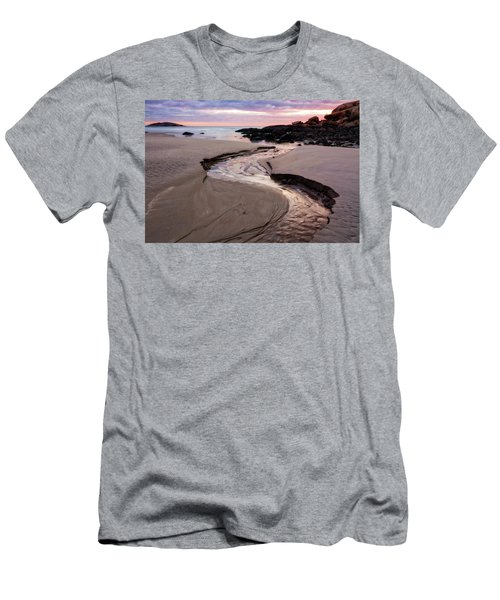 Men's T-Shirt (Athletic Fit) featuring the photograph The River Good Harbor Beach by Michael Hubley