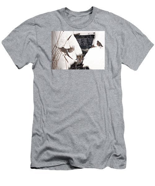 Men's T-Shirt (Slim Fit) featuring the photograph The Robin Plunge by Trina Ansel