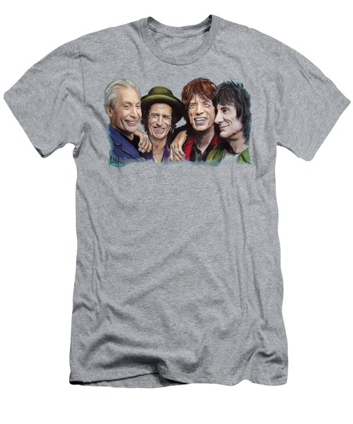 The Rolling Tongues Men's T-Shirt (Athletic Fit)