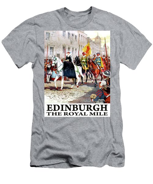 The Royal Mile, Edinburgh Men's T-Shirt (Athletic Fit)