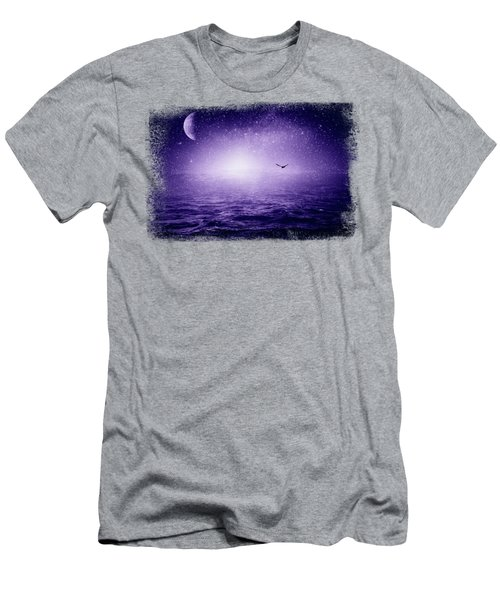 The Sea And The Universe - Ultra Violet Men's T-Shirt (Athletic Fit)