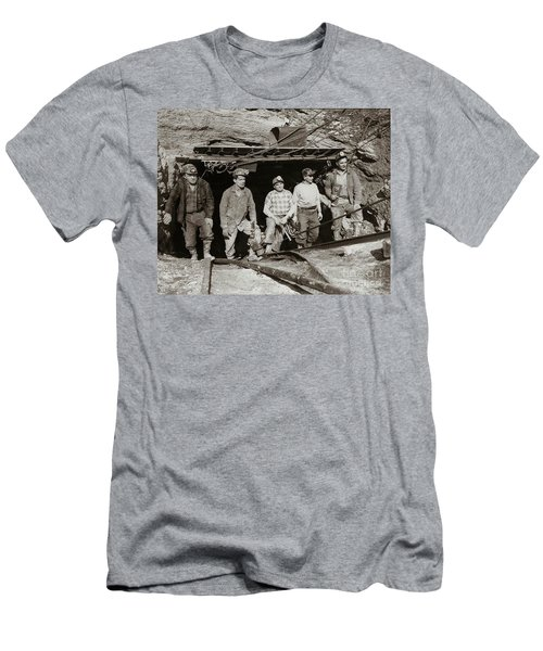 The Search And Retrieval Team After The Knox Mine Disaster Port Griffith Pa 1959 At Mine Entrance Men's T-Shirt (Athletic Fit)