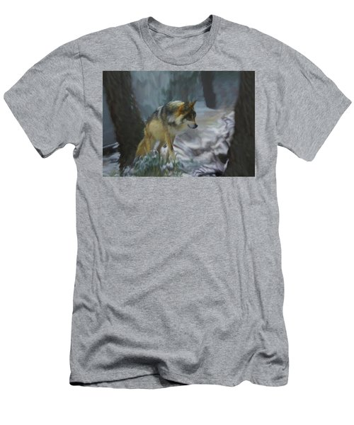 The Searching Wolf Men's T-Shirt (Athletic Fit)