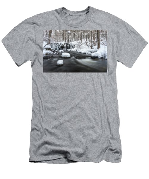 The Secret Waterfall In Winter 2 Men's T-Shirt (Athletic Fit)