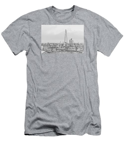 The Shard Outline Poster Bw Men's T-Shirt (Athletic Fit)