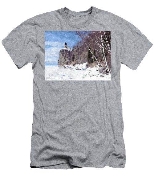 The Shoreline Lighthouse Men's T-Shirt (Slim Fit) by Maciek Froncisz