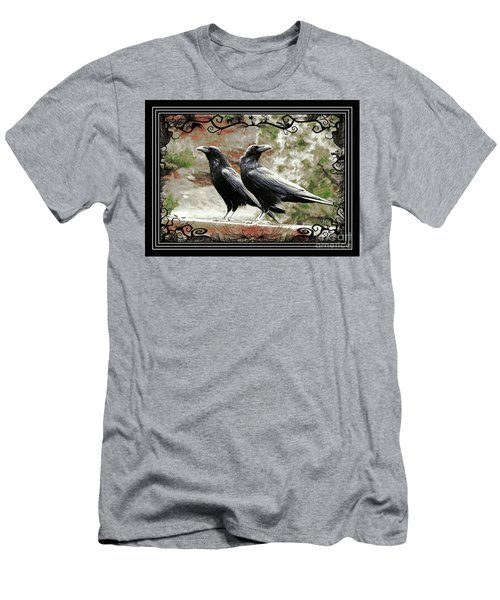 The Spooky Ravens Men's T-Shirt (Athletic Fit)
