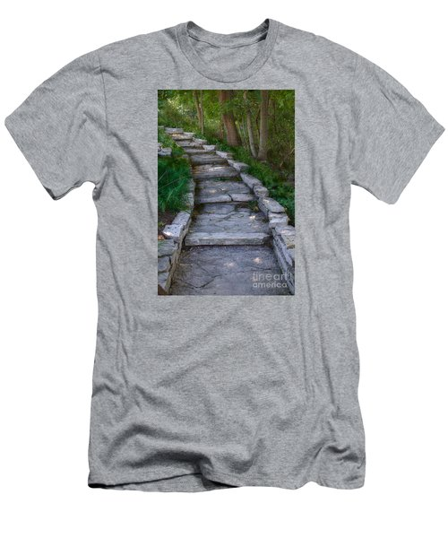 Men's T-Shirt (Slim Fit) featuring the digital art The Steps by David Blank
