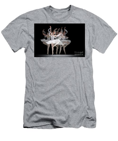 Men's T-Shirt (Athletic Fit) featuring the photograph The Swan Ballet Dancer by Dimitar Hristov
