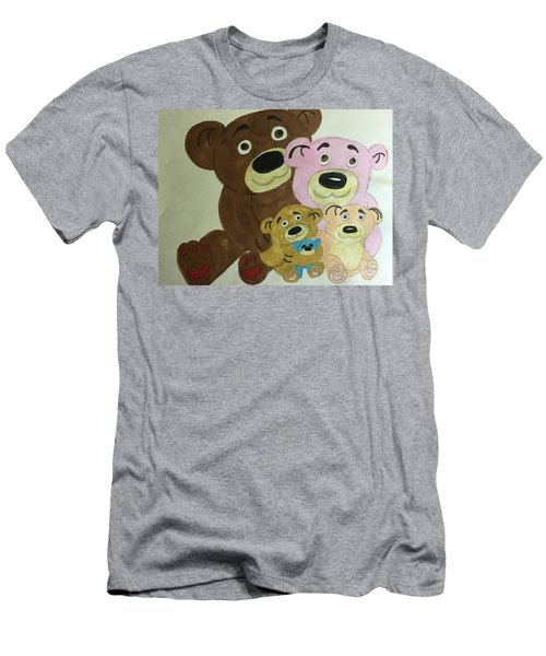 The Teddy Family  Men's T-Shirt (Athletic Fit)