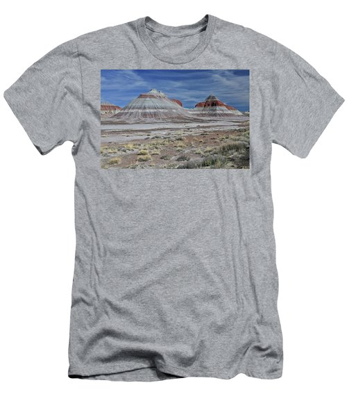 Men's T-Shirt (Slim Fit) featuring the photograph the TeePees by Gary Kaylor