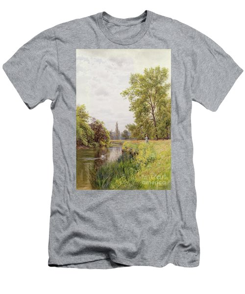 The Thames At Purley Men's T-Shirt (Athletic Fit)