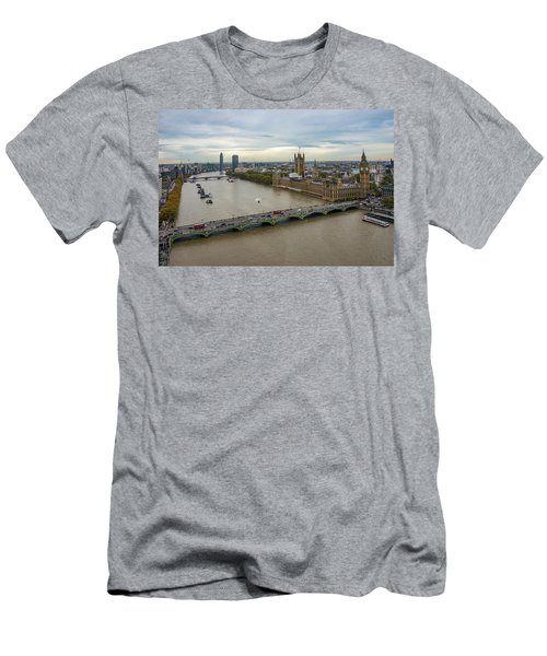 The Thames At Sunset Men's T-Shirt (Athletic Fit)