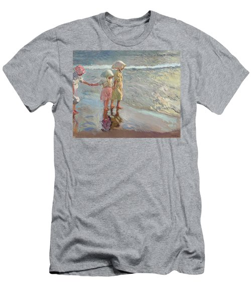 The Three Sisters On The Beach Men's T-Shirt (Athletic Fit)