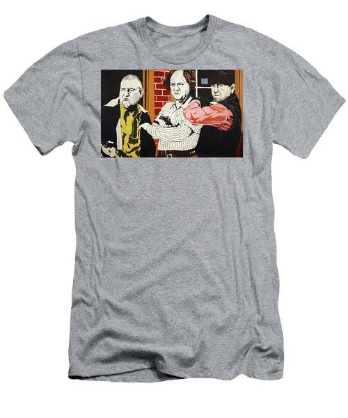 Men's T-Shirt (Slim Fit) featuring the painting The Three Stooges by Thomas Blood