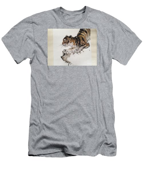 The Tiger At Rest Men's T-Shirt (Slim Fit) by Fereshteh Stoecklein