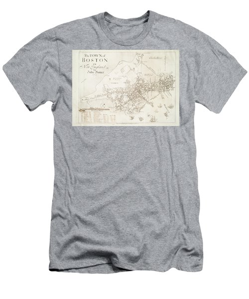 The Town Of Boston In New England 1722 Men's T-Shirt (Athletic Fit)