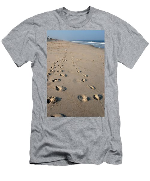 The Trails Of Footprints - Jersey Shore Men's T-Shirt (Athletic Fit)