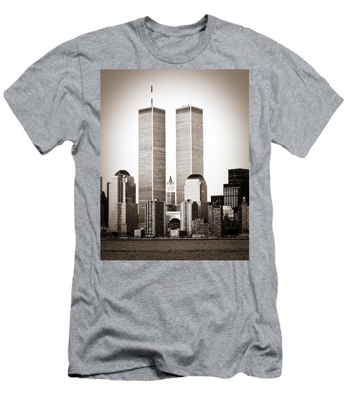 The Twin Towers Men's T-Shirt (Athletic Fit)