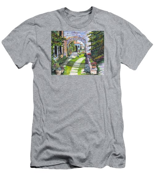 Men's T-Shirt (Athletic Fit) featuring the digital art The Villa by Darren Cannell