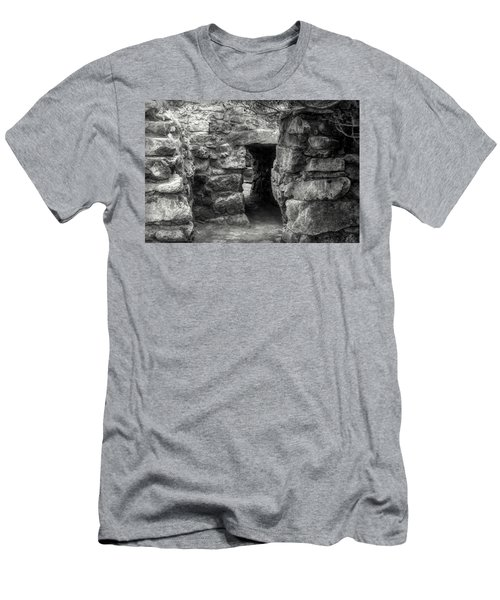 The Walls Of Tulum B/w Men's T-Shirt (Athletic Fit)