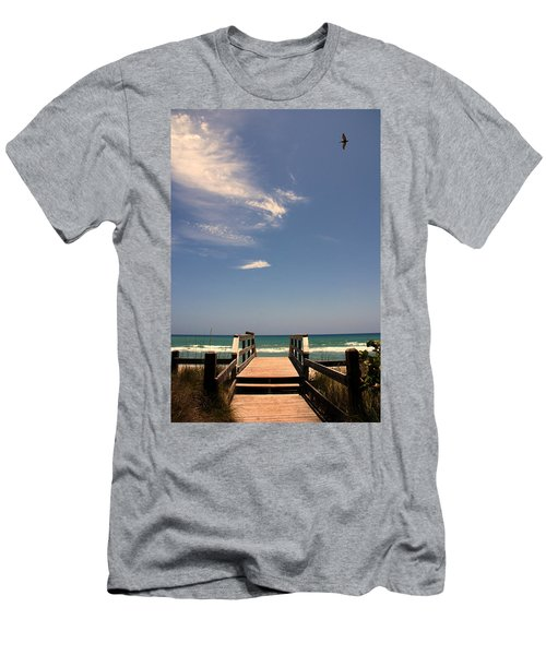 The Way Out To The Beach Men's T-Shirt (Athletic Fit)