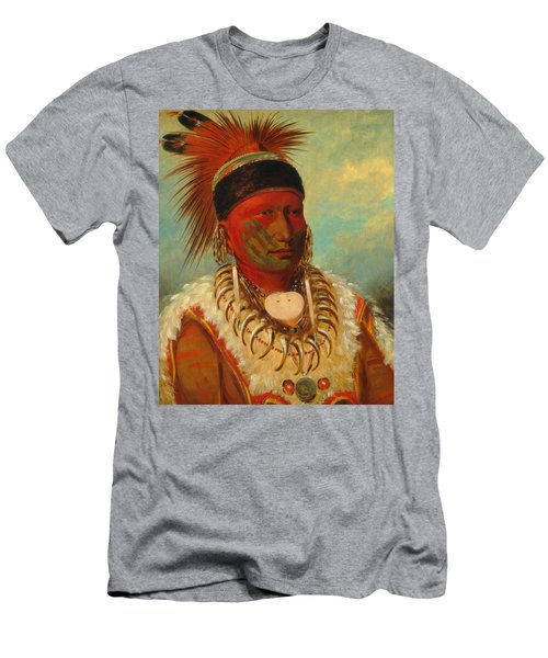 The White Cloud, Head Chief Of The Iowas Men's T-Shirt (Athletic Fit)