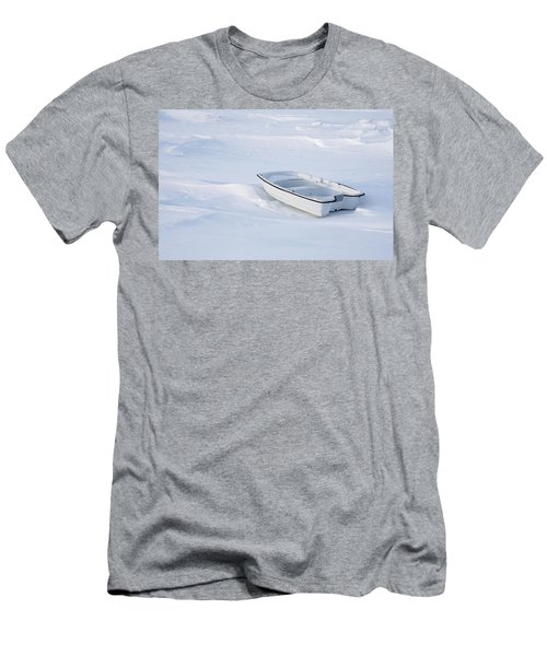 The White Fishing Boat Men's T-Shirt (Slim Fit) by Nick Mares