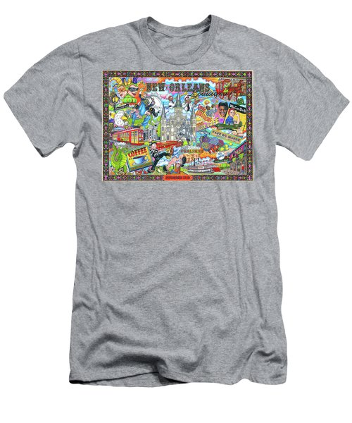 The Who, What And Where Of New Orleans, Louisiana Men's T-Shirt (Athletic Fit)